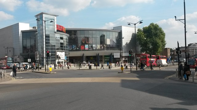 Vue cinemas and shops at Wood Green