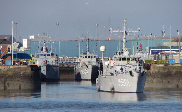NATO warships in Cardiff Bay