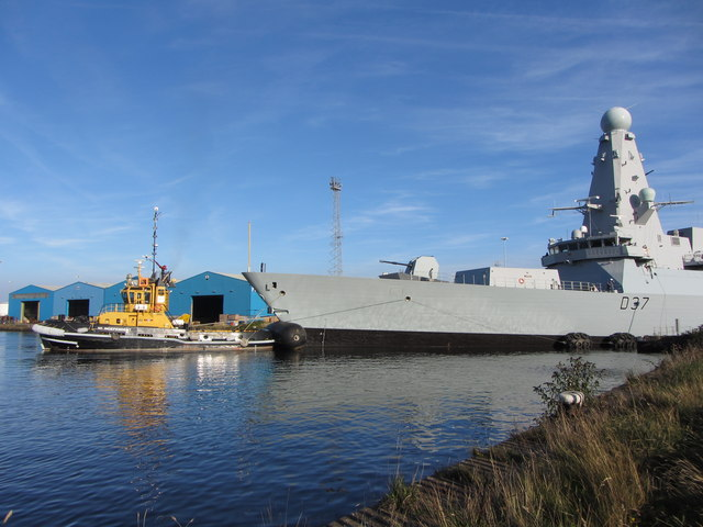 NATO warships in Cardiff Bay: HMS Duncan
