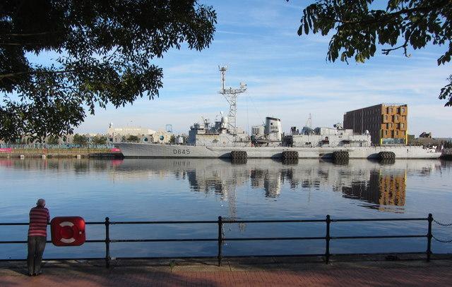 NATO warships in Cardiff Bay: FNS La Motte-Picquet