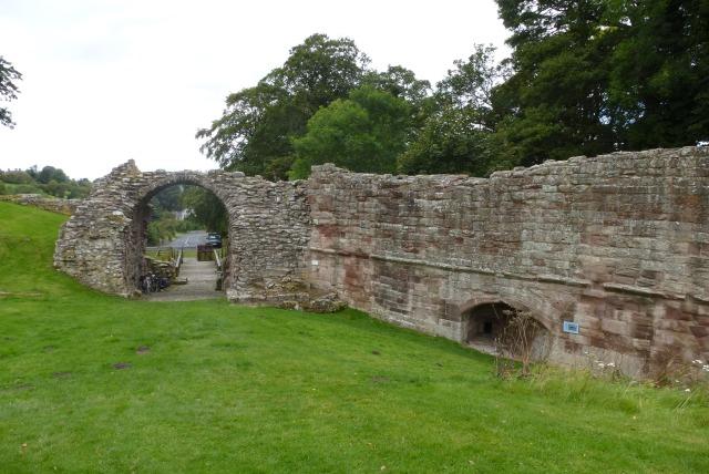 Castle entrance at Norham