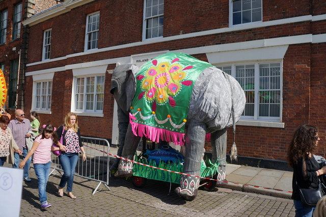 Festival Float on Princess Dock Street, Hull