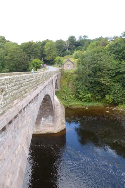Ladykirk and Norham bridge.