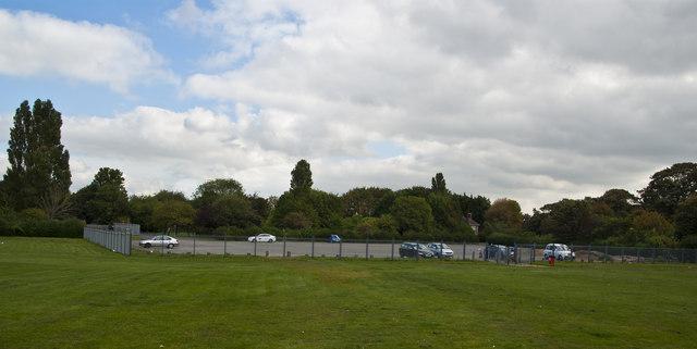The eastern car park at Walton Hall Park