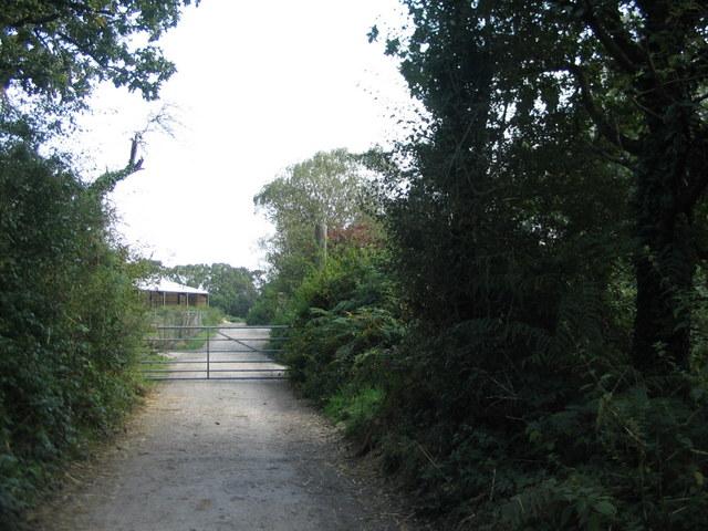 Bridleway between two gates