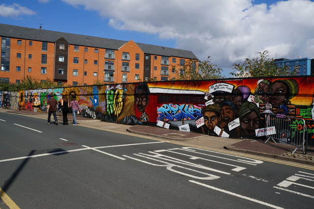The Freedom Mural on High Street, Hull