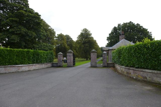 Gates to the riding school