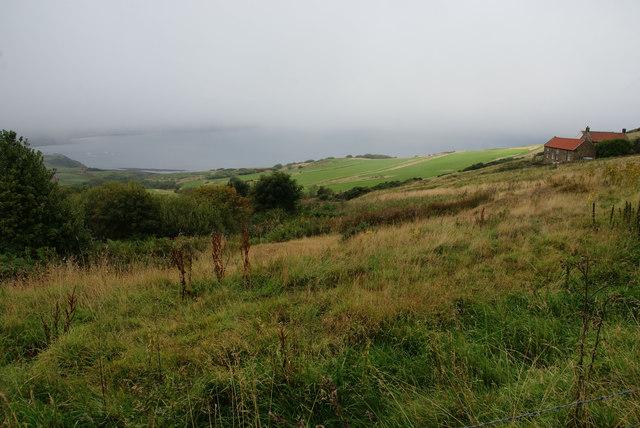 Aspect near Ravenscar with low cloud