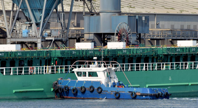 "The ""Arklow Mill"" arriving at Belfast harbour - September 2014(2)"