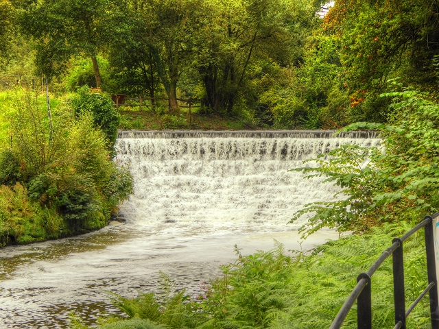 River Bollin Weir at Quarry Bank Mill