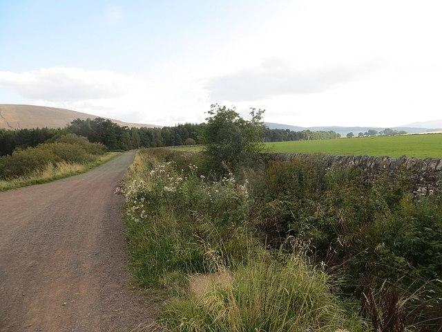 Road beside Harlaw Reservoir