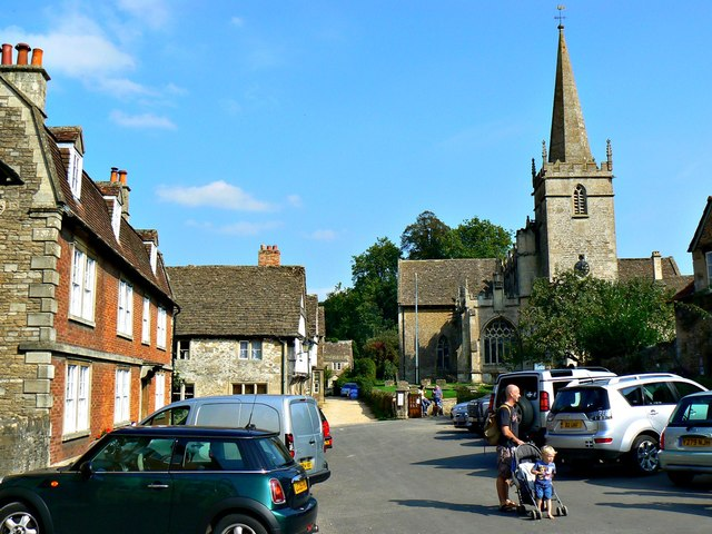 East along Church Street, Lacock, Wiltshire