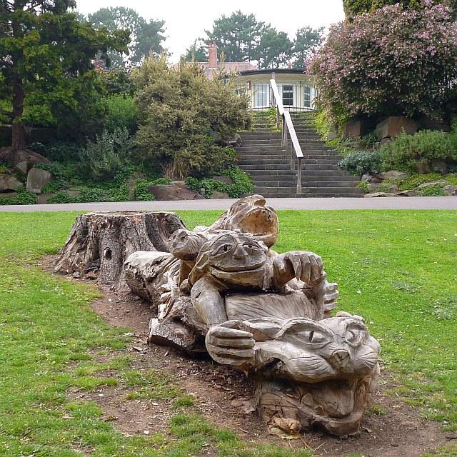 A tree sculpture, Belle Vue Park, Newport