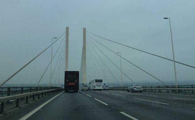 Just in Kent on the Queen Elizabeth II Bridge, Dartford