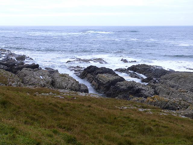 Coastal rocks at the southern end of Machir Bay