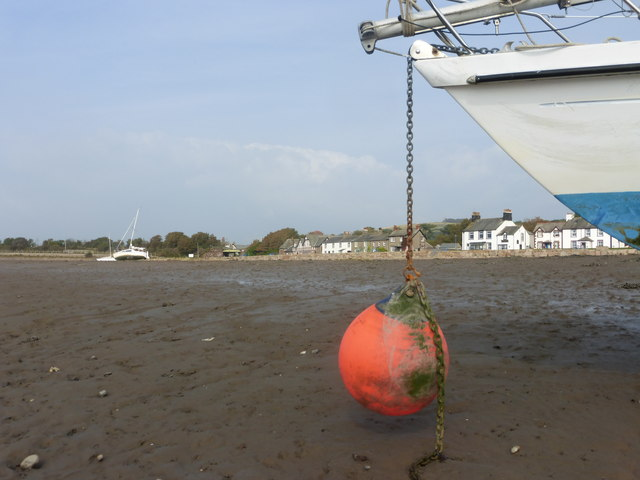 Ravenglass village from the mud flats