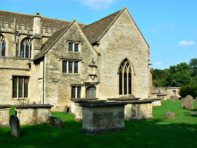 South elevation, Church of St Cyriac, Lacock, Wiltshire