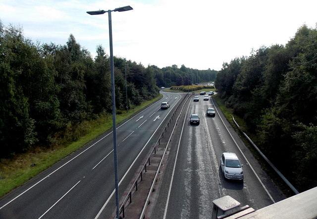 Wilmslow Bypass from Dean Row Road, Wilmslow