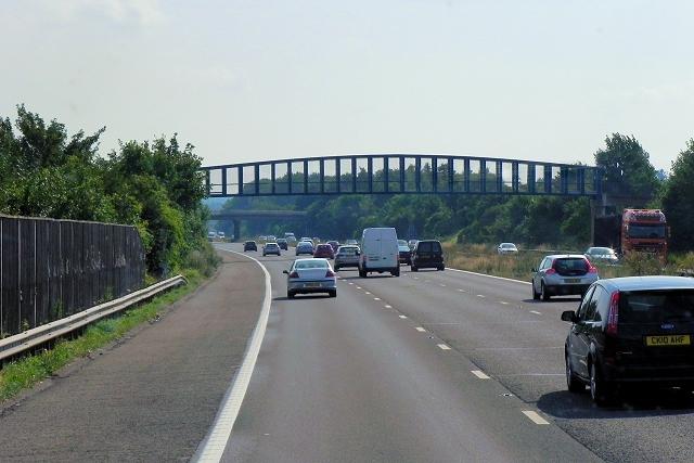 Footbridge over the M3 at Hatch