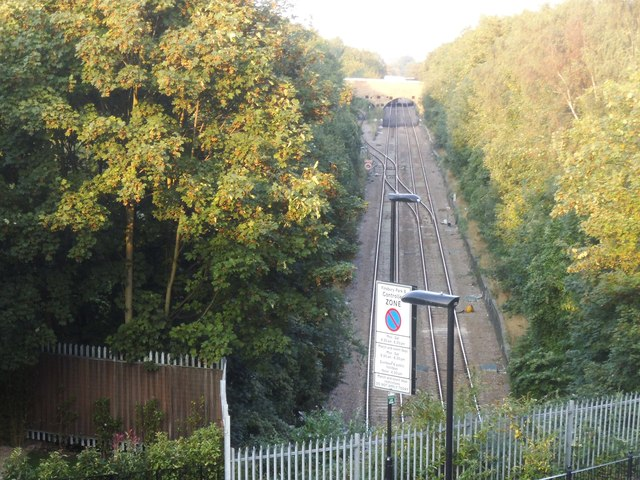 The railway line by Lancaster Road, Crouch End