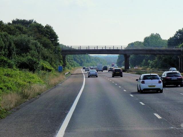 Eastbound M3, Bridge at Greywell Road