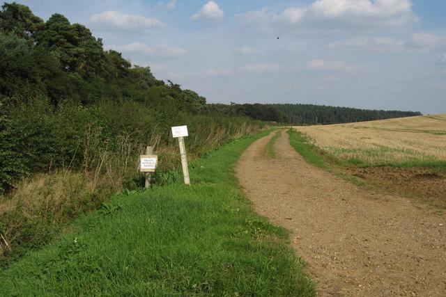 Private track to Second Lodge Farm