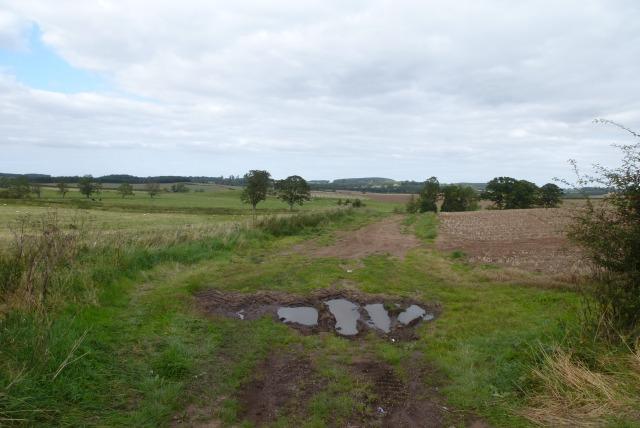Farmland off the B6353