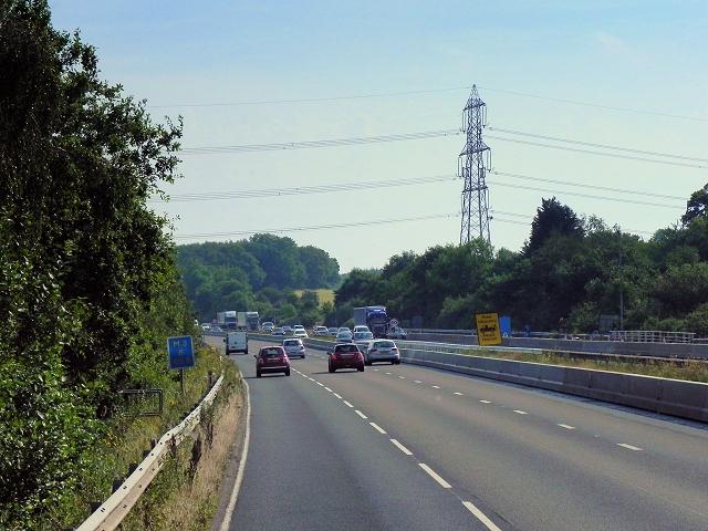 Eastbound M3 near Potbridge