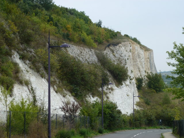 Old quarry edge at Bluewater, Kent