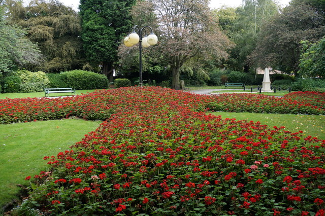Flower beds in Selby Park, Selby