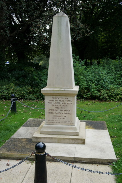 The War Memorial in Selby Park, Selby