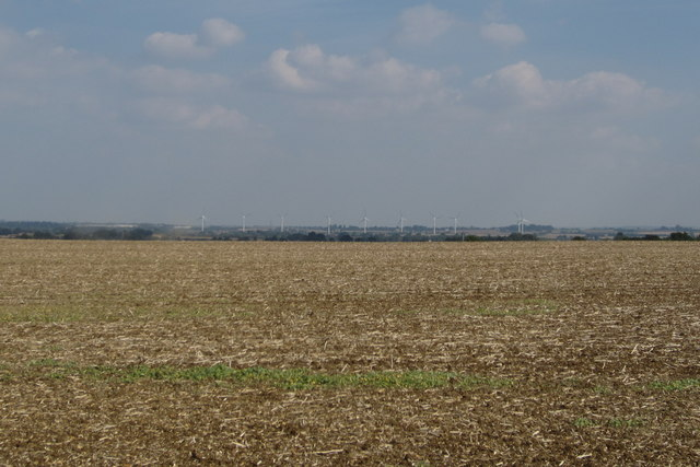 Farmland by the footpath