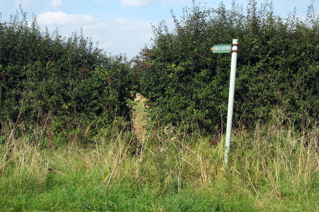 Public footpath to Southill