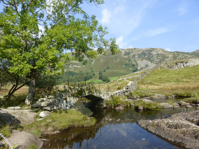 Slaters Bridge and the River Brathay