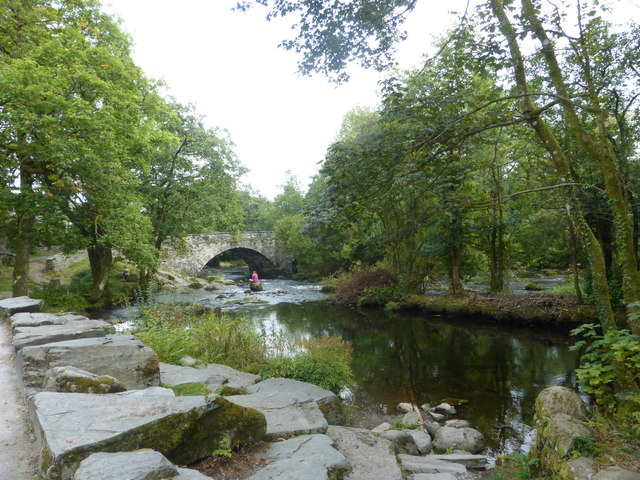 Skelwith Bridge over the River Brathay
