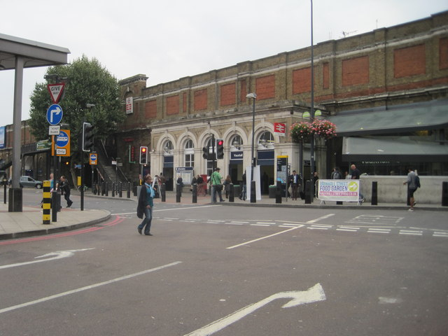 Vauxhall railway station, London