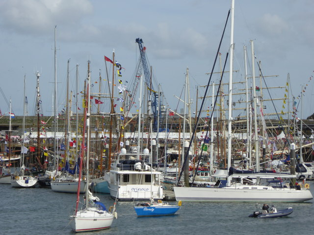 The scene in the Inner Harbour during the 2014 Tall Ships Festival