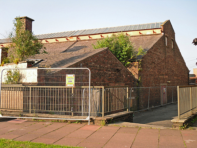 Back of the former Drill Hall, view from Georgian Way