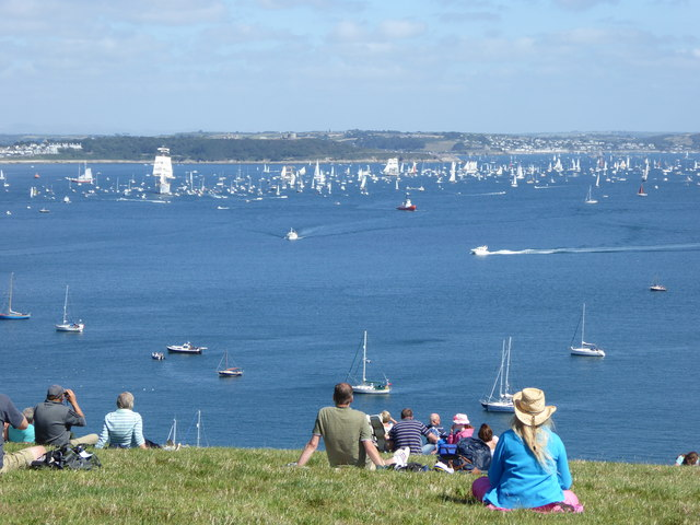 Watching the Tall Ships Parade of Sail