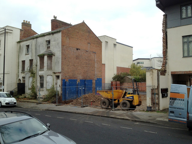 Sites awaiting redevelopment, top of Regent Grove, Leamington