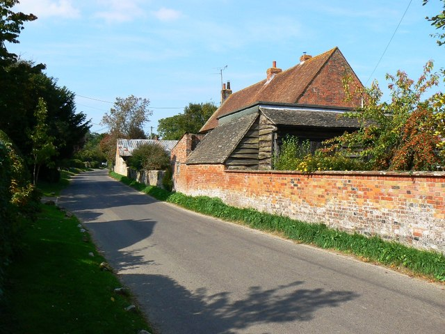 The road north through Wootton Rivers, Wiltshire