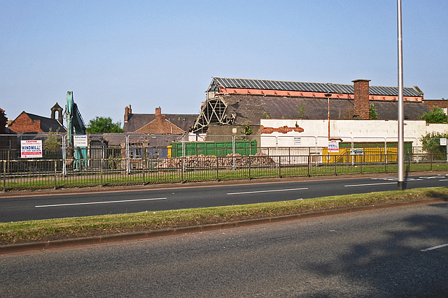 Demolition in progress - Drill Hall main shed