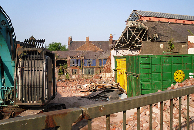 Demolition at the Drill Hall/Swifts Mews redevelopment site