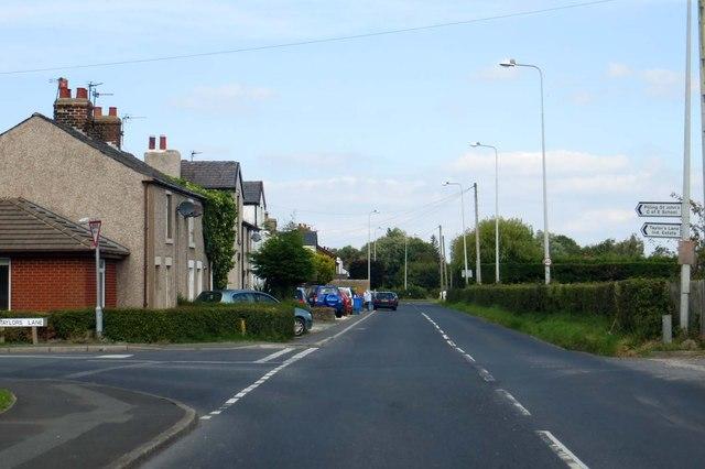 Lancaster Road runs through Fisher's Row