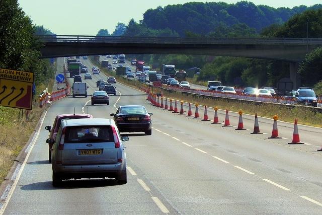 Bridge (Taplins Farm Lane) over the M3