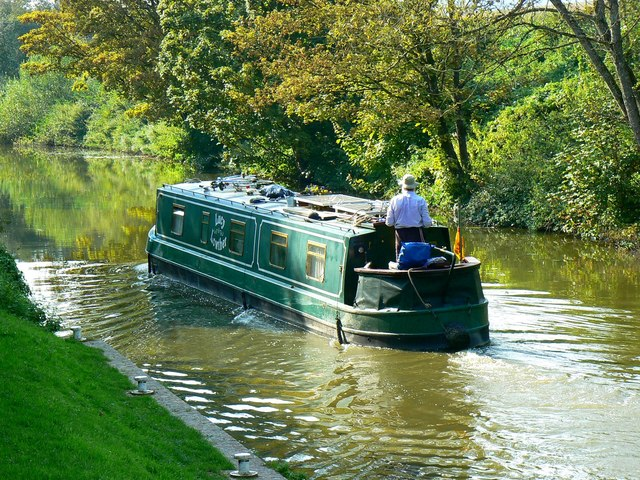 Narrowboat 'Lucy Lowther', Brimslade Lock, Kennet and Avon Canal, east of Wootton Rivers, Wiltshire