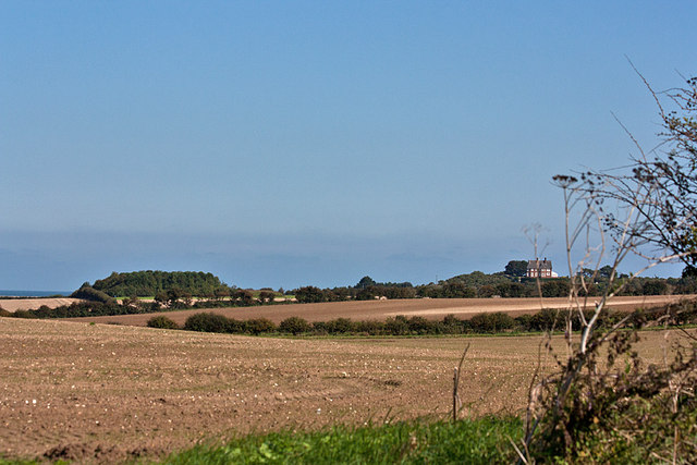 Across the fields to Morston Downs