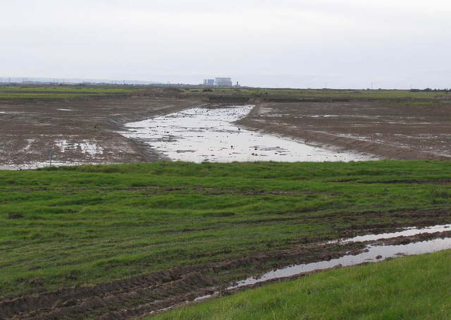 Steart Marshes Project early earthworks