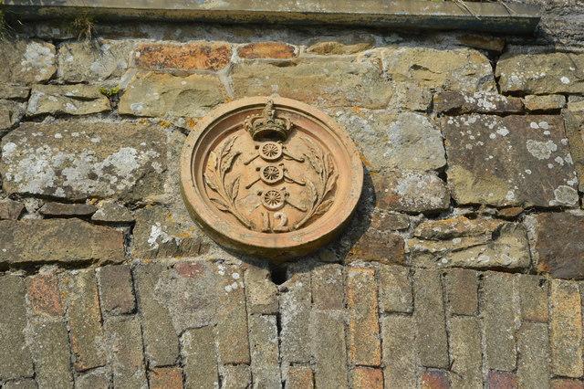 Artillery motif on the former drill hall
