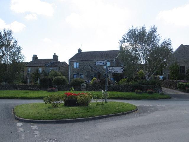 Road junction in Kirkby Malzeard